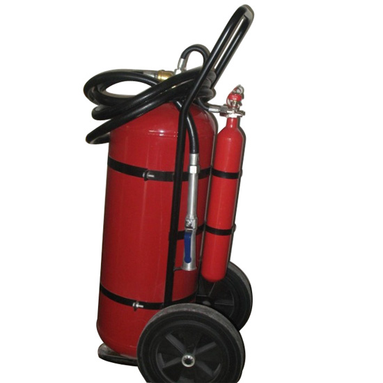 Trolley Powder Fire extinguisher with CO2 cartridge