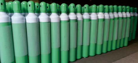hiqh pressure seamless steel agron gas cylinder